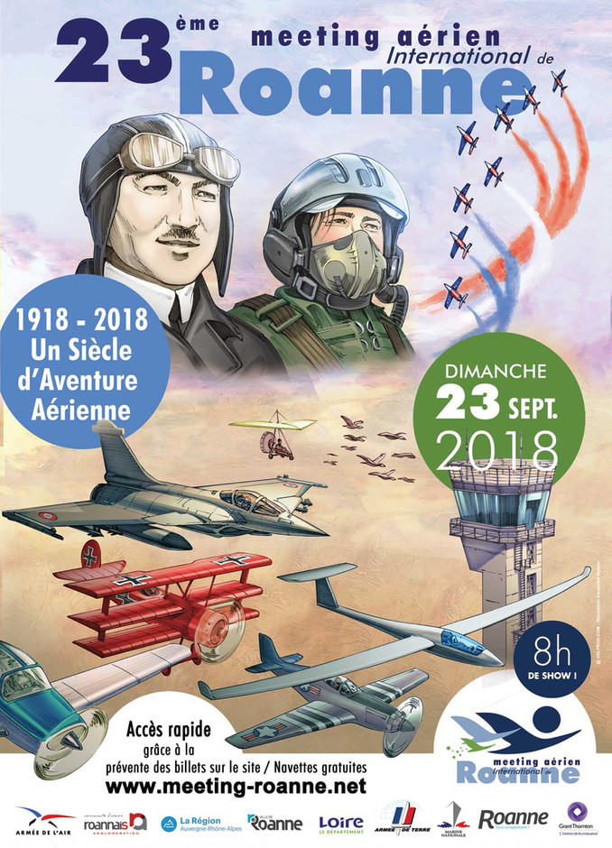 Affiche officielle du Meeting Aérien de Roanne