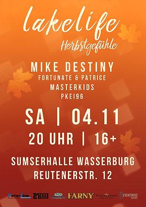 Lakelife Herbstgefühle 2017 Plakat