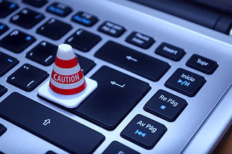 white-caution-cone-on-keyboard-211151_ed