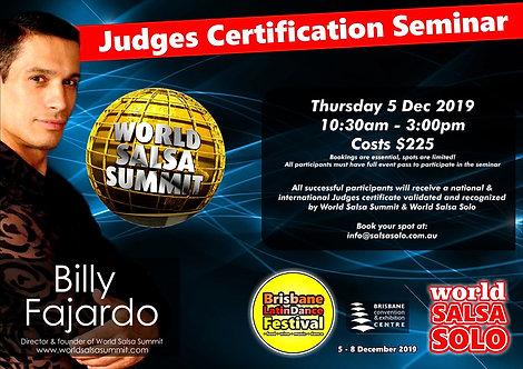 Judges Seminar International Certification with Billy Fajardo (USA)