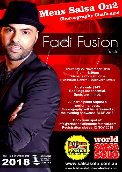 Mens On2 Salsa Choreography Challenge with Fadi Fusion (Spain)