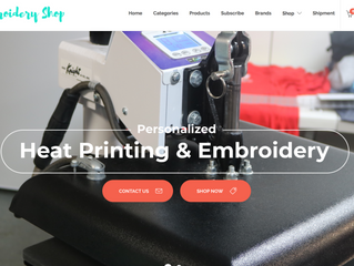 Website Overview: The Embroidery Shop