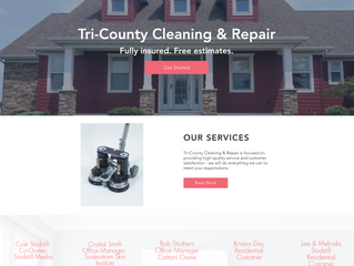 Website Overview: Tri-County Cleaning & Repair Inc.