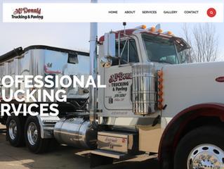 Website Overview: McDonald Trucking & Paving