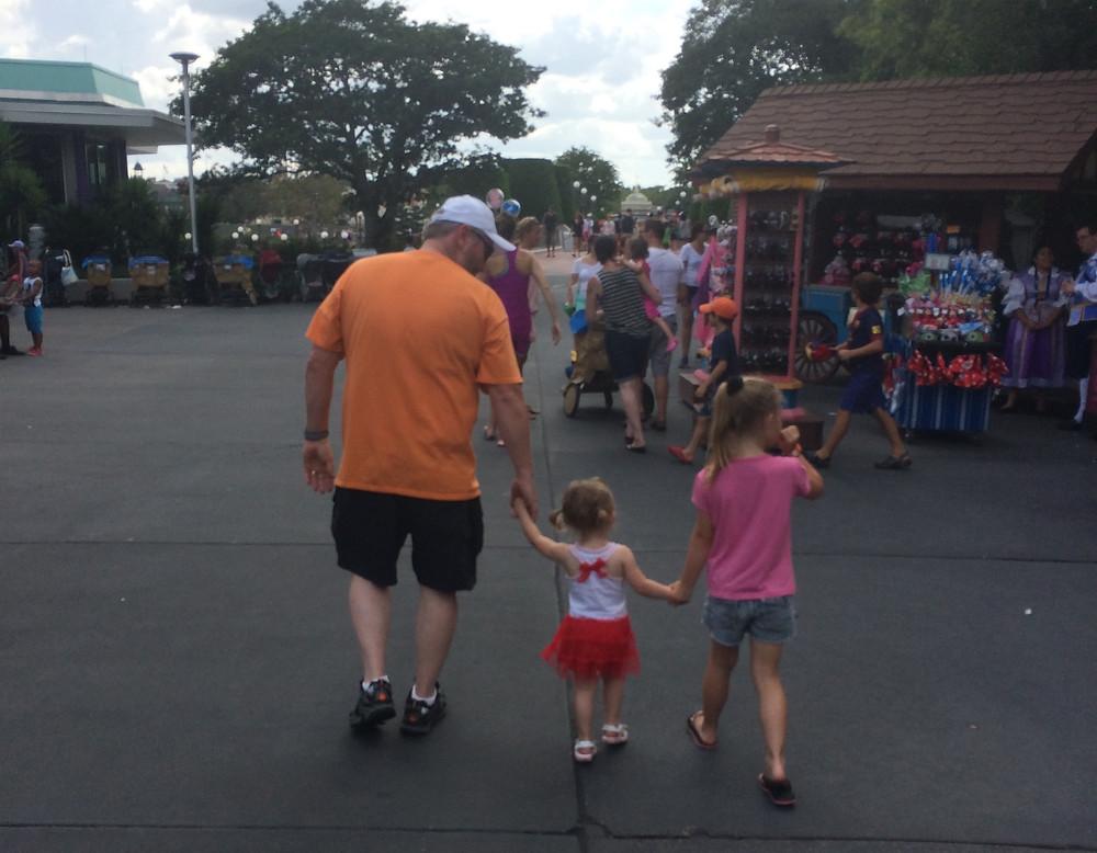 My dad and daughters at Disney 2014