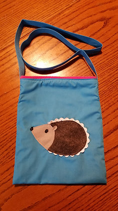 Hedgie Bonding Bag with hedgie on front