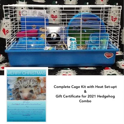 Gift Certificate for 2021 hedgehog & cage kit(PIF Jan/FEB #9 I.Matos)