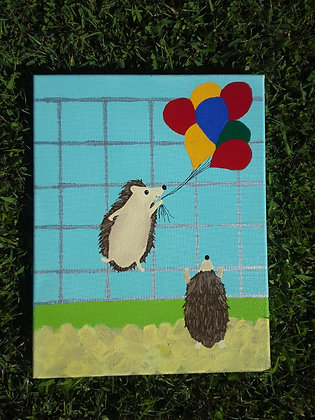 """""""The Escape Artist""""11x14"""" hand painted stretched canvas"""