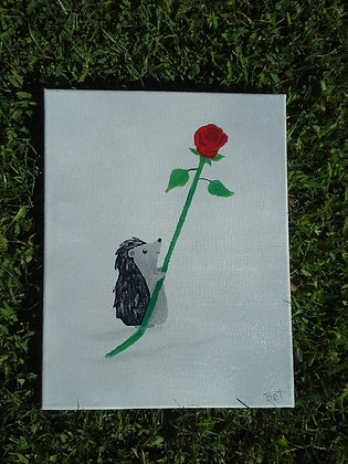 """""""Unspoken Love""""11x14"""" hand painted stretched canvas"""