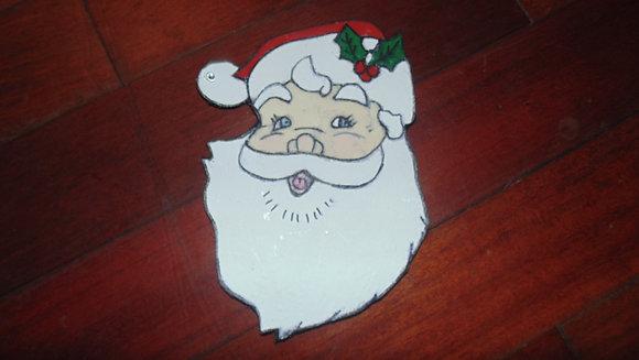 Small Decorative Refrigerator Magnets- Santa face