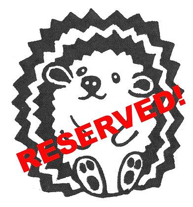 Waiting List Deposit - $50 reserve gift certificate