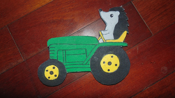 Large Decorative Refrigerator Magnet- PICK ONE - tractor hedgie