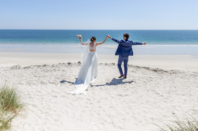 mariage plage fouesnant