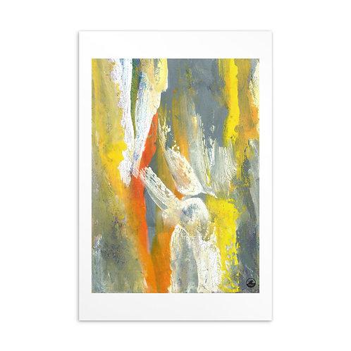 Life (1) Mini Abstract Art Standard Postcard