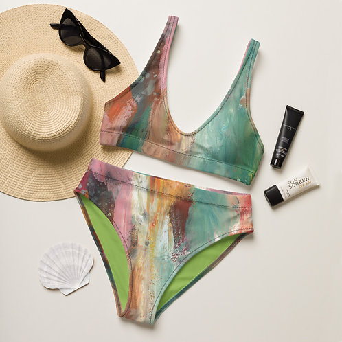 In The Mix Recycled high-waisted bikini