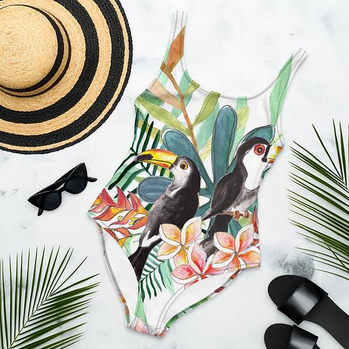 Tropical Bird One-Piece Swimsuit