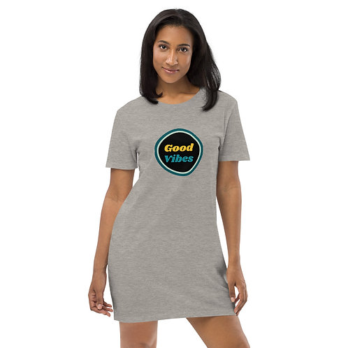Good Vibes Organic cotton t-shirt dress