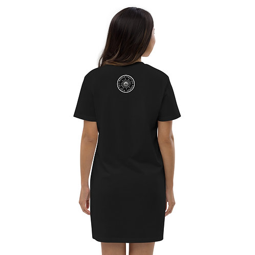 Give This World Positive Energy Organic cotton t-shirt dress