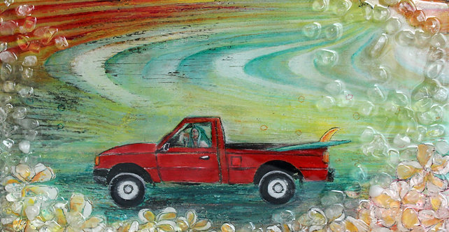 SOLD! The Girl in The Red Truck