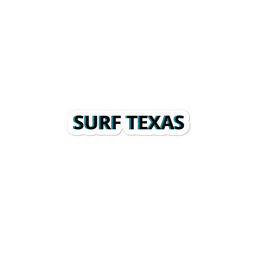 Surf Texas Bubble-free stickers
