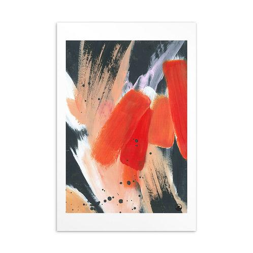 Fearless Mini Abstract Standard Postcard