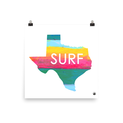 Texas Surf Art Poster