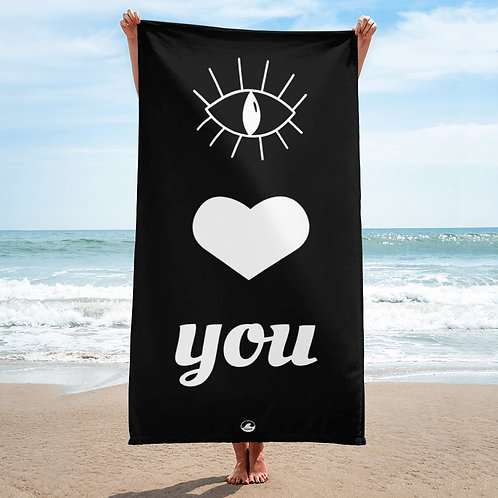 Eye Heart You Beach Towel
