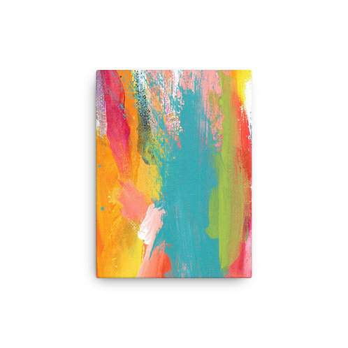 Tropical Holiday Abstract Canvas Print