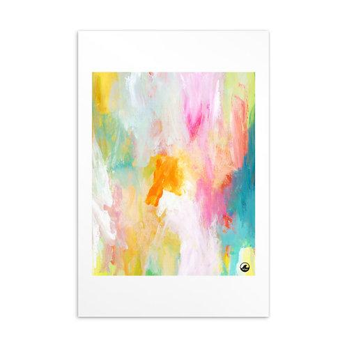 Chasing Sunshine Mini Abstract Standard Postcard