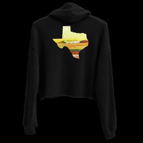 Texas Waves Crop Hoodie
