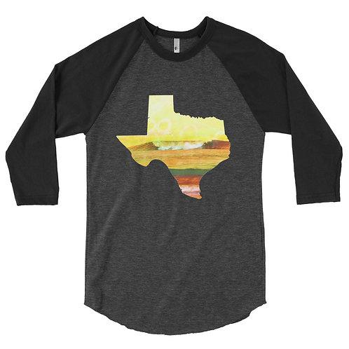 Texas Wave 3/4 sleeve raglan shirt