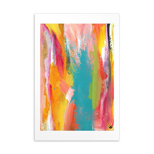 Tropical Holiday Mini Abstract Art Standard Postcard