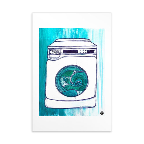Texas Surf Report Washing Machine Standard Postcard