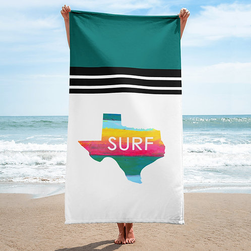 Surf Texas Beach Towel