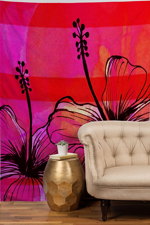 Summer Pink Tapestry