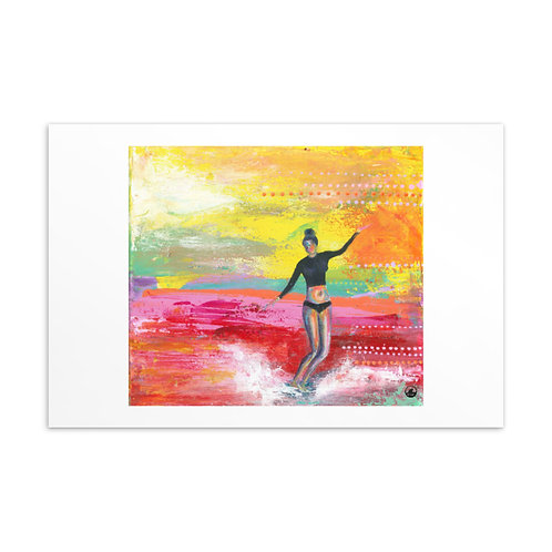 Sea Gypsy Surfer Girl Min Art  Postcard