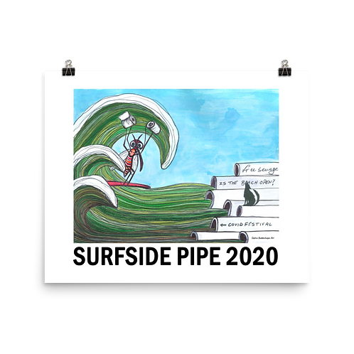 """Surfside Pipe  8""""x10""""  Poster"""
