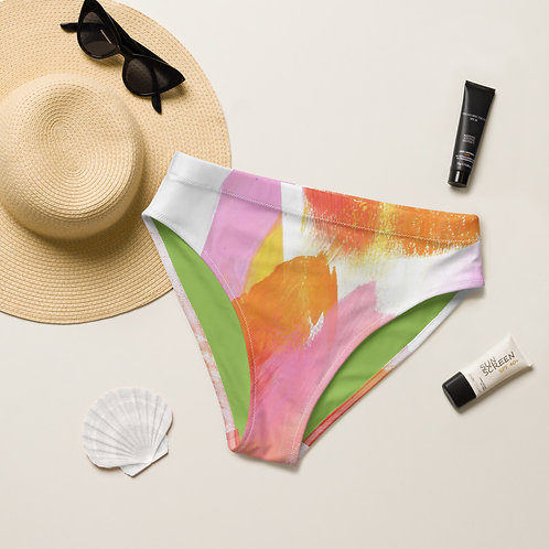 Sugar Shack Recycled high-waisted bikini bottom