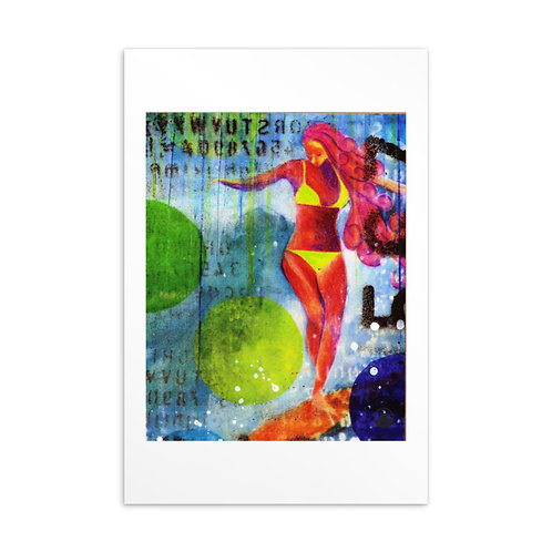 Soul Surfer Mini Art Standard Postcard