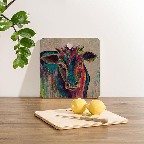 Texas Cow Cutting Board