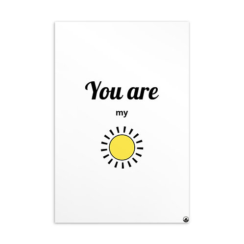 You Are My Sunshine Standard Postcard