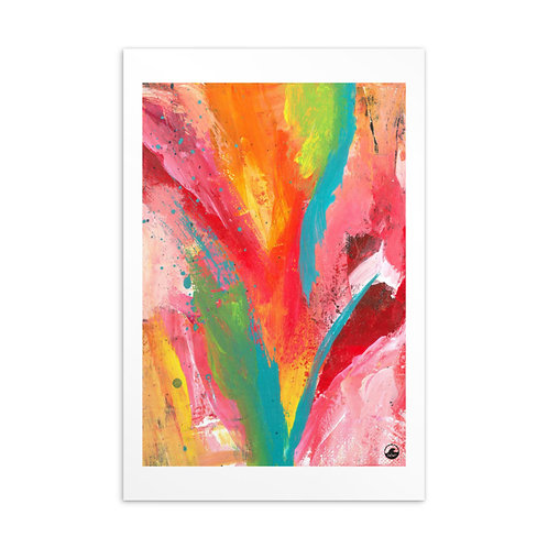The Good Life Mini Abstract Art Standard Postcard