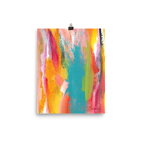 "Tropical Holiday  8""x10""  Abstract Art Poster"