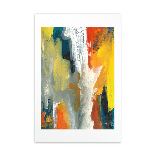 Life (2) Mini Abstract Art Standard Postcard