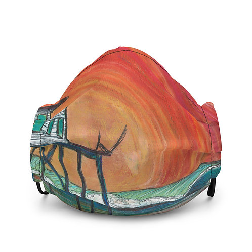 Surfside Texas Premium face mask by SoBudd