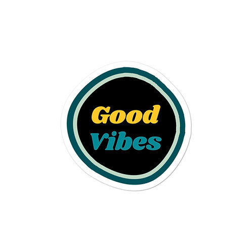 Good Vibes Bubble-free stickers