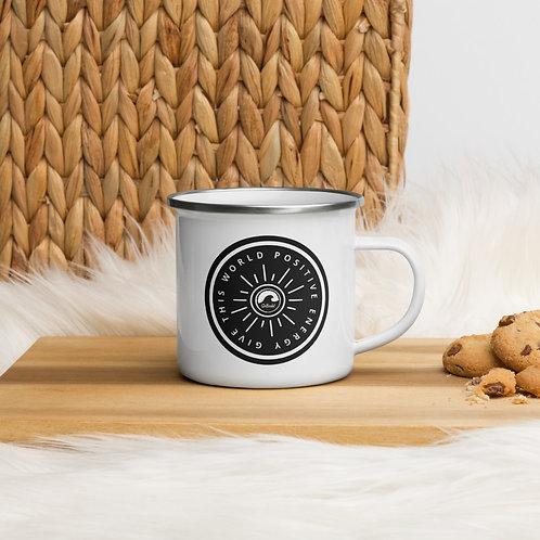 Give This World Positive Energy Enamel Mug