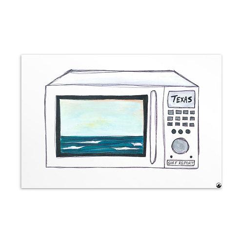Texas Surf Report Microwaves Standard Postcard
