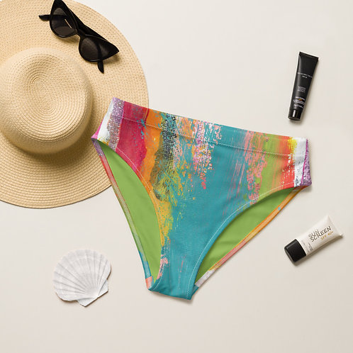 Tropical Holiday Recycled high-waisted bikini bottom