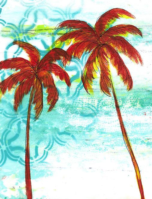 SOLD - Orange Palms